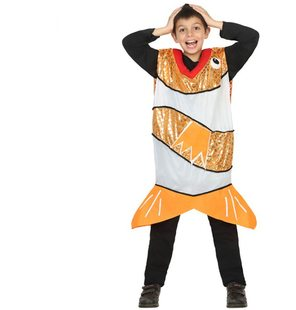 Orange fish costume