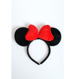 Oreilles Minnie Mouse avec noeud rouge Luxe