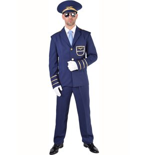 Pilot Costume for men dark blue