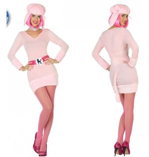 Pink poodle costume for ladies