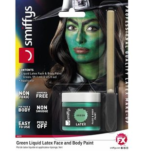 Professional latex makeup Green