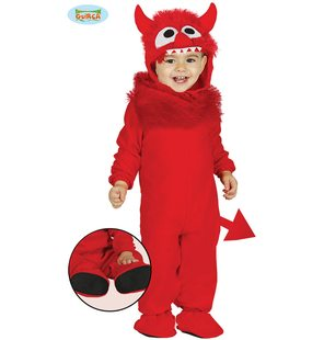 Red devil monster Baby Costume
