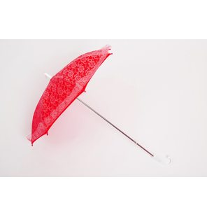 Red lace umbrella