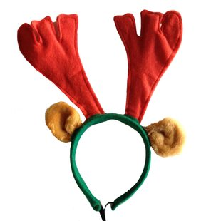 Reindeer antler with ears on hairband