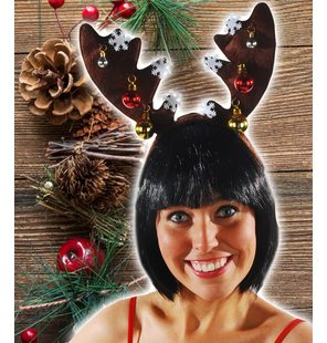 Reindeer headgear luxury with Christmas balls