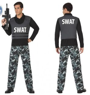 SWAT police costume for men