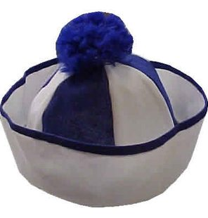 Sailor hat blue white