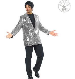 Sequin coat silver for men
