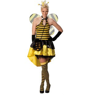 Sexy bee dress ladies fancy dress