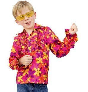 Shirt Disco hippie with print for kids