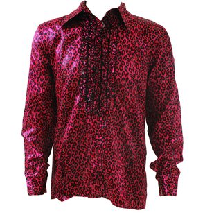 Shirt with animal print Roze Luipaard