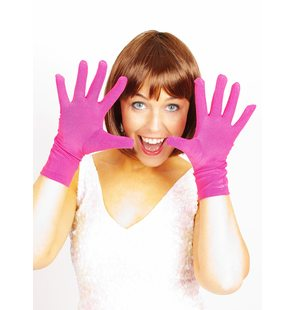 Short fuchsia gloves