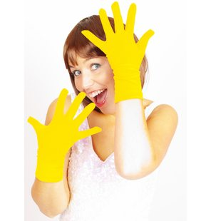 Short gloves yellow basic