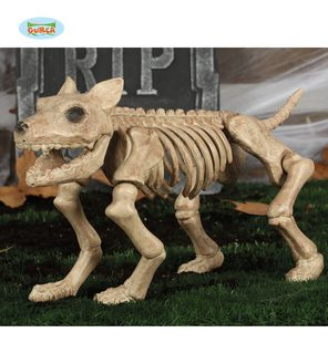 Squelette de chien halloween decoration 46cm
