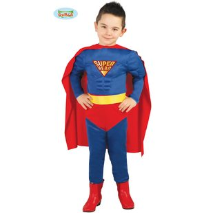 Superman kind carnaval kostuum