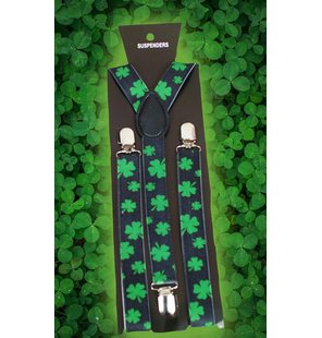 Suspenders four-leaf clovers / shamrock