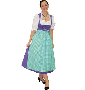 Tirol Dirndl Dress Purple