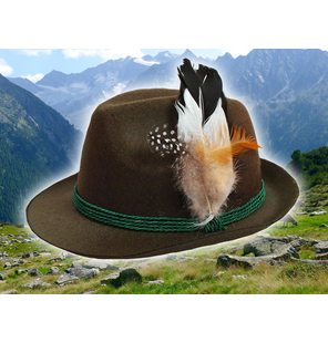 Tirol Hat green with feather