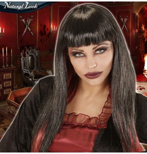 Vamp Wig black bordeaux