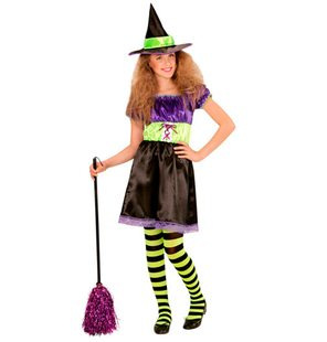 Witch dress with hat for girls