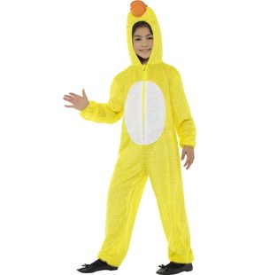 Yellow duck costume for children