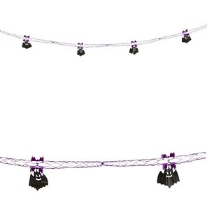 decoration garland with bats 2,7 m