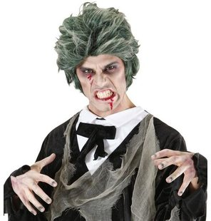 green zombie wig