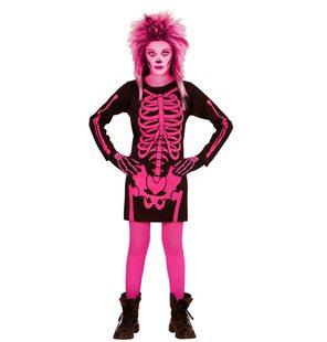 skeleton dress pink