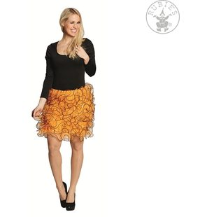 skirt with ruffles orange